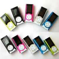 Wholesale watch wma mp3 player online - Portable Shiny Mini USB Clip LCD Screen MP3 Media Player Support GB Micro SD Card Sports MP3 Music Player MP3 WMA A29