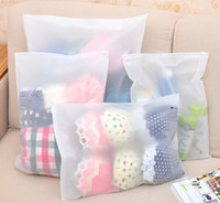 Wholesale Transparent Clothes Storage Bag - Travel transparent waterproof clothing storage bag frosted suitcase clothes finishing self - styled thick net bag sealed bag