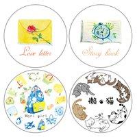 Wholesale Diy Cat Bag - Wholesale- 2016 New High Quality Cat \Envelope \Bag \Note Japanese Washi Decorative Adhesive Tape DIY Masking Paper Tape Label Sticker Gift
