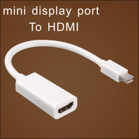 Wholesale projector line for sale - Group buy mini displayport to HDMI Adapter Cable DP display port P connecting line with retail packing high quality