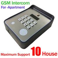 Wholesale Apartment Door Intercom - Wholesale- GSM-APARTMENT KEYPAD Handfree apartment door or gate access controller with Wireless gsm audio intercom system