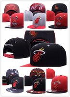 Wholesale Hat Heat - HOT 2017 Adjustable Miami wade 3# Snapback Hat many Snap Back Hat For Men Basketball Cap Cheap heat Hat Adjustable men women Baseball Cap