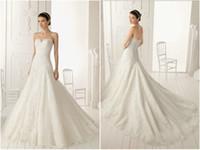 Wholesale Silk Organza Sweetheart Neck Wedding - New Custom Made Luxurious Corset Plus Size Mermaid Wedding Dress Sweetheart Tulle Applique Bridal Gown Vestidos de Novia