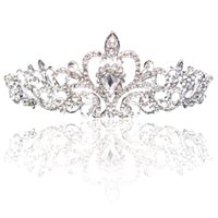 Wholesale New Style Hair Bride - Big Princess Classic Bride Headpieces Tiaras Cute Girls Tiaras Crowns All with Crystal for Wedding and Gift New Style Free shipping CPA793