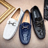 Wholesale Light Blue Moccasin - Genuine Leather Loafers Shoes Men Fashion Moccasins Quality Comfort Casual Shoes Soft Light Flats Driving shoes