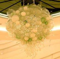 ingrosso lampadario a bolle murano-Centrotavola Bubble Chandelier in vetro soffiato al 100% Risparmio energetico Stile semplice Vetro di Murano Vetro decorativo a LED