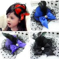 10pcs / Lady Mini Feather Rose Top Chapéus Casaco Capa Fascinator Cosplay Clip