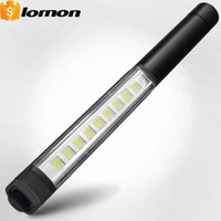 Wholesale Led Lamp Torch Magnetic - 9 LED Light magnetic TOOL WORK Flashlight Super Bright Strong Light Lantern Lamp Multi-function Pen Light Handy Portable Torch Fast Shipping
