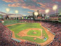 Wholesale parks painting - Fenway Park Thomas Kinkade Oil Paintings Art Wall Modern HD Print On Canvas Decoration No Frame