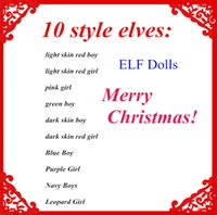 Wholesale Xmas Dolls - Plush ELF Dolls Red Girl & Boy Figure Christmas elves Soft Book Xmas dolls on the shelf For Kids Holiday