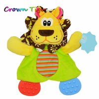Wholesale Dog Towel Toy - Wholesale- Baby Infant Kids Animal toother gum Appease Towel Toys Funny Doll rattle Teether Developmental Dog lion plush toy comfort towel