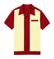 tejidos en línea al por mayor-Al por mayor-al por mayor en línea para hombre camisas casuales más el tamaño de manga corta de algodón camisa de trabajo de la vendimia abotonan camisas tejidas camisa rockabilly