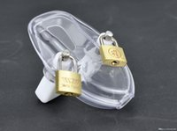 Wholesale Chastity Cage Black - BONDAGE CLEAR  Black MALE POLYCARBONATE CHASTITY DEVICE NEW ARRIVAL FETISH SEX TOY A138