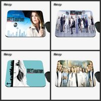 Wholesale hot abc - Hot-selling TV Show Gray's Anatomy Abc Star Pattern Rectangular Non-slip Rubber Laptop Gaming Mouse Pad for Players Gifts