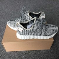 Wholesale Wholesale Box Turtles - Real Boost Turtle Dove 350 Boost AQ4832 Factory Grey Kanye Shoes 350 Boost Pirate Black Running Shoes With Box