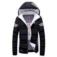 Wholesale Large Mens Coats Jacket - Wholesale- 2016 New Winter Jacket Mens Down cotton coat warm Hooded Parka men Fashion male thick Jackets brand clothing Large size