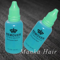 tutkal şişeleri toptan satış-2 şişeler Profesyonel salon kullanımı 1 OZ dantel peruk peruk için 30 ml saç tutkal sökücü cilt atkı bant saç uzatma sökücü