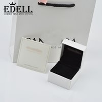 Wholesale Leather Jewelry Box Necklace - EDELL High Quality Pandodra Charm Boxes Beads Box Earring For Charms Brand Bracelet Box Necklace Box for Charms Bracelet With Brand Logo