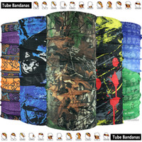 Wholesale Knitted Spring Scarves - Retail Fashion Microfiber Tubular Cycling Mask Breathable Face Shield Multifunctional Headwear Outdoor Bandana Seamless Magic Scarves