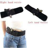 Wholesale Elastic Gun Belt - Tactical Elastic Belly Band Waist Pistol Gun Pistol Holster Adjustable Gun Holster Belt Girdle With Gun Pouches