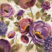 yağlıboya tablolar mor çiçekler toptan satış-Yüksek kaliteli El Yapımı Silvia Vassileva Mavi ve Mor Çiçek Şarkı yağlıboyalar için çiçekler sanat Yatak Odası dekor
