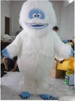 Wholesale Snow White Mascots - 2017 White Snow Monster Yeti Mascot Costume Adult Abominable Snowman Monster Mascotte Outfit Suit Fancy Dress EMS free shipping