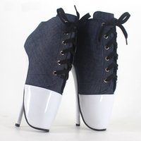 Wholesale Cheap Dress Jeans - 18 Cm High-Heeled Sexy Ballet Shoes Pumps Bdsm Large Size Sexy High Heels Like Shoes Jeans Sapato Feminino Fetish Shoes Women Cheap Sexy