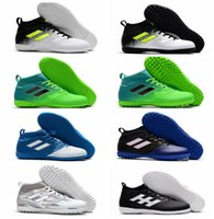 Wholesale Cream Ankle Boots - Mens Turf high ankle Soccer shoes 2017 ACE 17.3 Primemesh TF IN indoor soccer cleats ACE football boots Original purecontrol 17 Hot sale