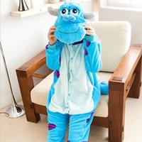 traje adulto de personagem unisex venda por atacado-Atacado-Adulto Unisex Pijamas Pijamas Animal Pijama Adulto Character Completo Manga Com Capuz de Poliéster Conjuntos de Pijama Pijama Pijamas Femme