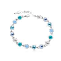 браслеты из австрийских кристаллов оптовых-Мода должн иметь 3 цвета мульти Кристалл браслет с австрийскими кристаллами от Swarovski для женщин подарок новый дизайн