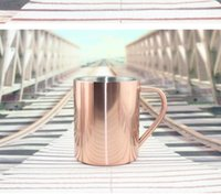 Wholesale Coffee Cup Candles - Vacuum Plating Copper Cup Durable Moscow Mule Mug Coffee Water Cups Candle Whisky Mugs Stainless Steel Mug KKA1746