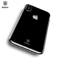 Wholesale Baseus Iphone Case - Baseus Dirt-resistant Case For iPhone X 10 Capinhas Ultra Thin Clear Soft TPU Silicone Cover Case For iPhoneX Coque Fundas