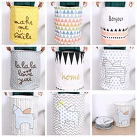 Wholesale Storage Baskets Cotton - Kids Toy Storage Bag horse Cotton Children Room Organizer Folding Baby Laundry Bag With Handle Clothes Storage Laundry Basket KKA1666