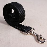 Wholesale Big Dog Leashes - 2017 New Arrival Reflective Dog Leashes Nylon Line Soft Big Size 2.5cm Width 125cm Long For Dog Walking Leashes Free Shipping