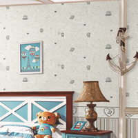 Wholesale Cartoon cat children s room wallpaper
