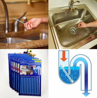 Wholesale New set Sani Sticks Sewer cleaning Rod Drain Cleaner and Deodorizer Unscented kitchen toilet bathtub sewage decontamination G0293