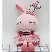Wholesale Little Love Dolls - love rabbit cute plush toy little rabbit doll animal modeling doll birthday gift wedding free shipping