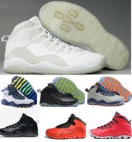 Wholesale Sport Shoes Discount China - Discount Retro 10 Basketball Shoes Men Women White Air Retros 10s X Men's Women's Sport Femme Homme China Brand Authentic Training Sneakers