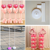 Wholesale Garden Clips - 2 Set 150cm Balloon column base  stick  plastic poles +15 clips Balloon arch Wedding decoration party supplies Garden decoration free ship