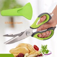 Wholesale Metal Shearing Tools - Multi-functional Stainless steel kitchen scissors poultry shears chicken bone fish scissors kitchen gadgets cooking tools wa3859