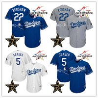 Wholesale Star Shorts Black - Men's 2017 All Star Game jersey #22 Clayton Kershaw #5 Corey Seager Los Angeles Dodgers Baseball Jerseys Stitched Cool Base Jerseys