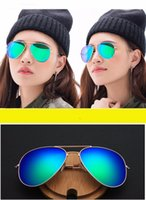 Wholesale eyewear brand names for sale - 30pcs Sale Classic Men Women Sunglasses Eyewear Brand Name Fashion Sun glasses Women sun Glasses Metal Pilot Brand Sunglasses