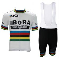 Wholesale Uci Bib Cycling - 2017 uci world champion peter sagan pro team bora cycling jersey short sleeve Bicycle ropa ciclismo men summer bike cloth bib pants gel pad