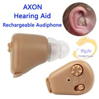 Wholesale Tone Adjustable Hearing Aids - Portable Axon K-88 Hearing Aid Rechargeable Audiphone Adjustable Tone In-ear Sound Amplifier Personal Ear Care Tools