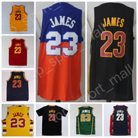 Wholesale High Trade - 2017 Traded Men James Basketball Jerseys Throwback 23 LeBron James Jersey St. Vincent Mary High School Irish,Movie TUNESQUAD Stitched