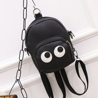 Wholesale Korean Kids White Backpacks - Fashion Cartoon Eye Children Bags Cartoon Girls Backpack Purses Shoulder Bags Korean Kids Leather Bag Satchel Bag Girls Backpacks A150