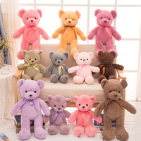 Wholesale Super Soft Teddy Bear Gift - Teddy Bear Dolls Multicolored Toy Wedding Gift Easy Going Super Soft Short Plush Comfortable Feel Household Valentine Day Gift 8 5jy I1