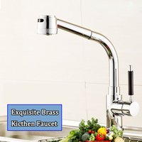 Wholesale Hotel Basin - Exquisite Brass Water Tap Singer Holder Long Waterfall Spray Shower Tap Low lead Thicken Mixer Faucet for Kitchen Home Hotel Basin Sink