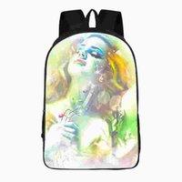 Wholesale Del Boy - 16 Inches Lana Del Rey Backpack Customized Double Zipper Schoolbag Rucksack Kids Children Daypacks Mochila For Boys Girls A191