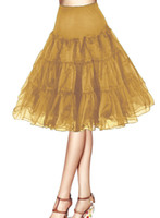 Wholesale Pink Tutu Petticoat Skirt - Vintage Short 2017 Women 50s Petticoat Rockabilly Tutu Underskirts Half Slips Party Petticoat Skirts Tutu Swing Skirt Underskirts Crinoline
